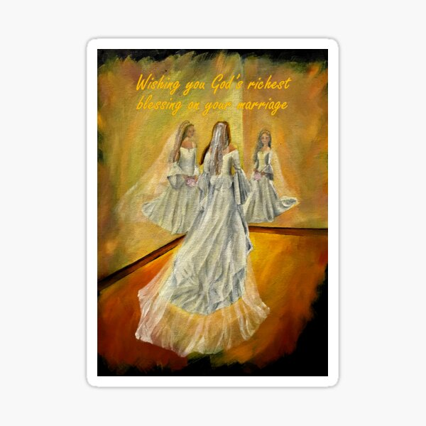 Wedding Card - Wishing you God's richest blessing on your marriage Sticker