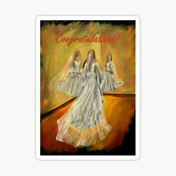 Wedding Card - Congratulations Sticker