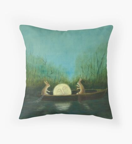 The Dreaming Moon  Throw Pillow