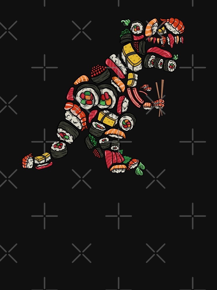 T Rex Sushi - Funny Trex Dinosaur Foodie by Cadieco