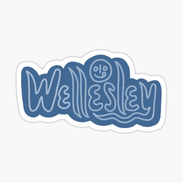 Wellesley Wavy Sticker Sticker