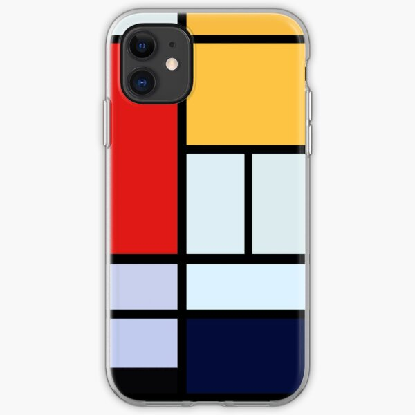 Piet Mondrian Minimalist Art iPhone Soft Case