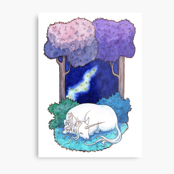 Sleep in the lilac forest Metal Print