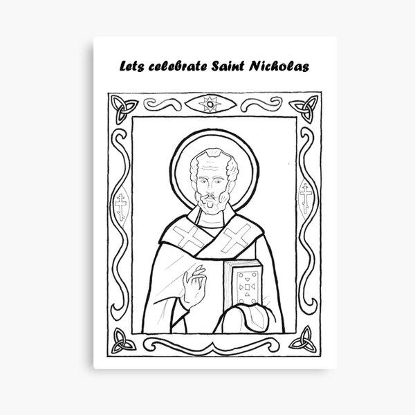 Traditional Saint Nicholas Canvas Print