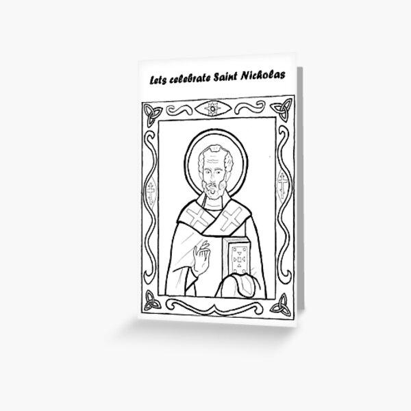 Traditional Saint Nicholas Greeting Card
