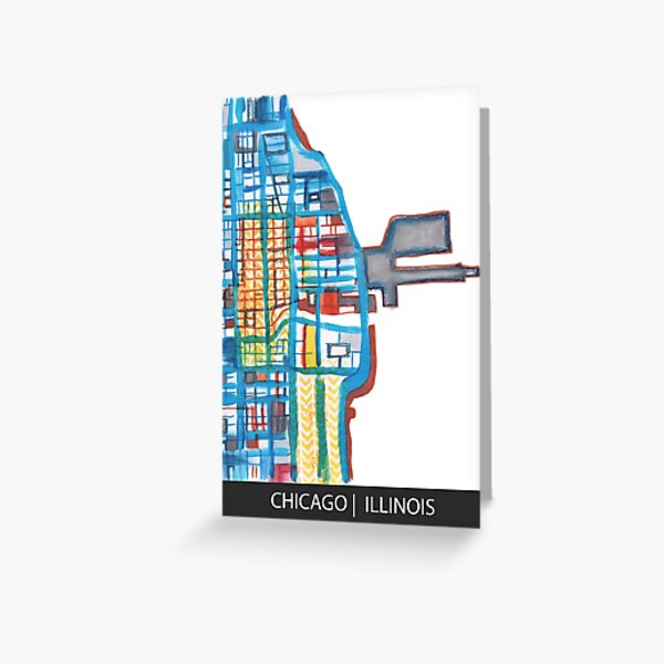 Navy Pier, Chicago (Yellow) Greeting Card