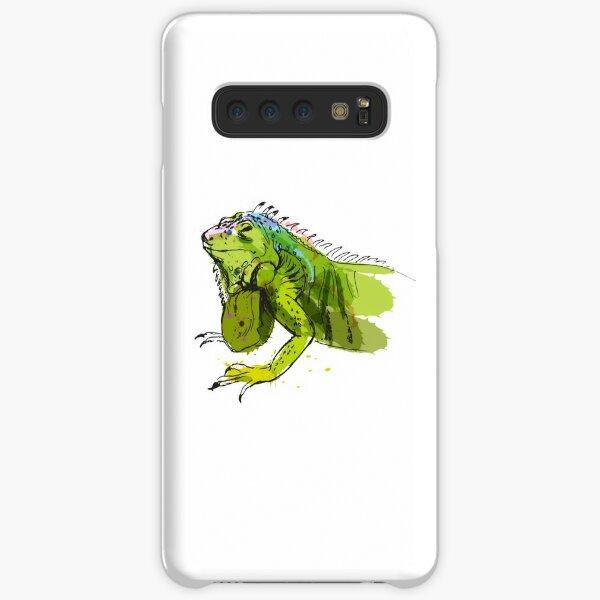 Green Iguana Watercolor Samsung Galaxy Snap Case