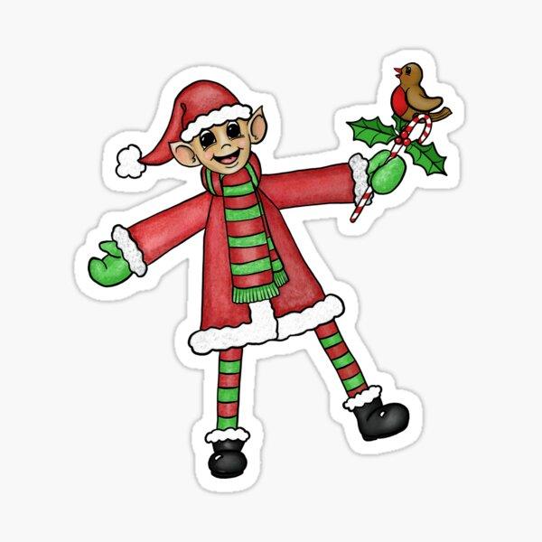 Elf signe à Bord Sticker Autocollant Drôle Mignon Décoration de Noël Elfes De Voiture Van