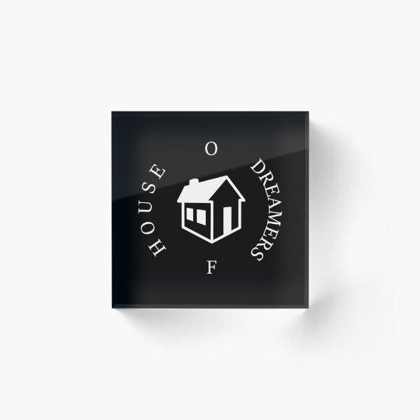 House Of Dreamers Logo White Acrylic Block