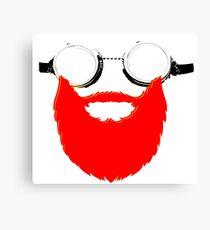 Beard Goggles Canvas Print