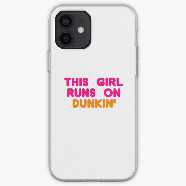 This Girl Runs On Dunkin' iPhone Soft Case
