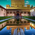 Alhambra - Patio del los Arrayanes - Granada - (treatment 1) by marcopuch