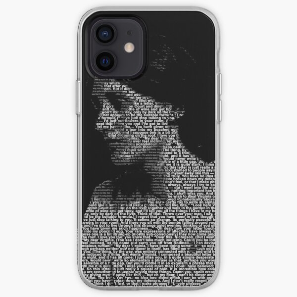 Virginia Woolf Word portrait using the love letters between her and Vita iPhone Soft Case