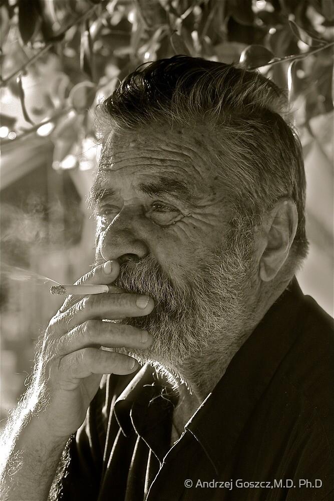 7 ★★★★★ .Faces of Greece . Bali . Vineyard farmer . Portrait.  from  Kriti . Greece .. by Brown Sugar . Views (560). F* by © Andrzej Goszcz,M.D. Ph.D