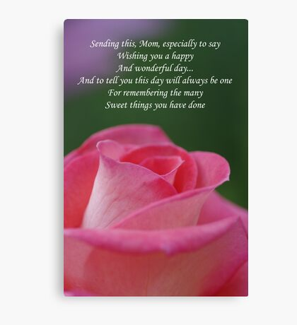 Mother's Day Card 3 Canvas Print
