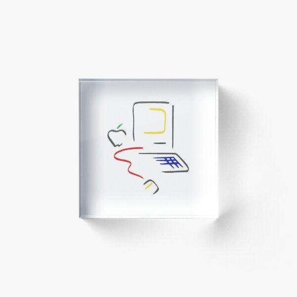 Apple Computer Macintosh Picasso 80s retro design Acrylic Block