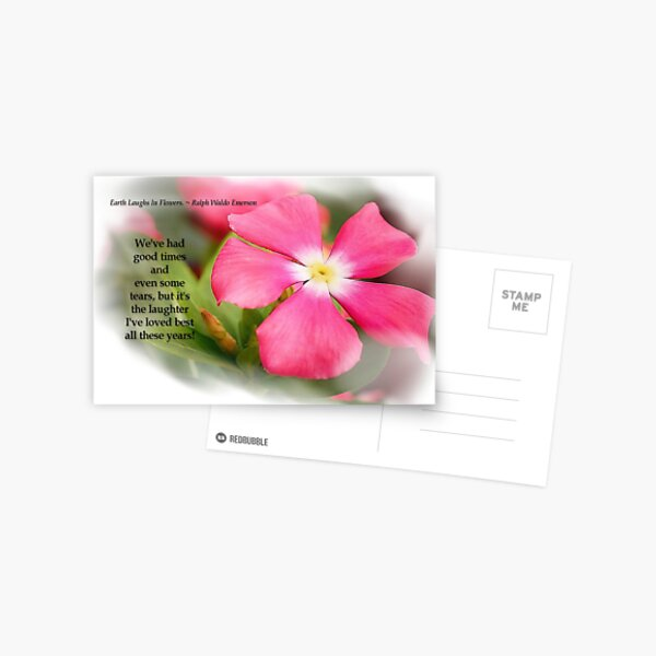 Earth Laughs in Flowers Postcard