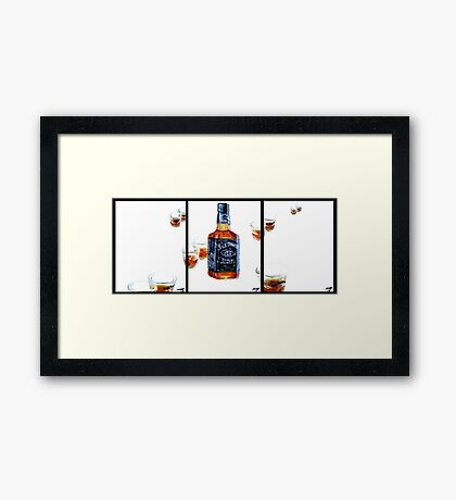 Don't Mix...Jack Daniel's...With Red Wine Framed Print