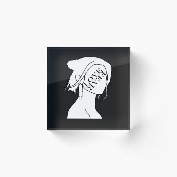 MARINA LOVE + FEAR Acrylic Block