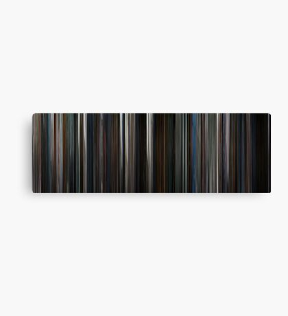 Moviebarcode: The Dark Knight (2008) Canvas Print