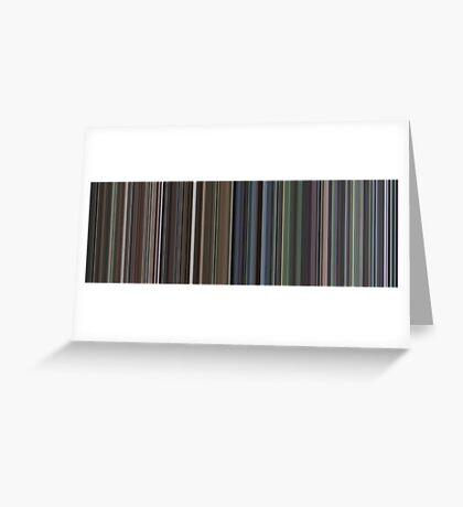 Moviebarcode: Requiem for a Dream (2000) [Simplified Colors] Greeting Card