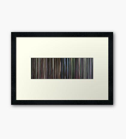 Moviebarcode: Requiem for a Dream (2000) Framed Print
