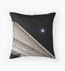 Moonbeams Behind the Pantheon Throw Pillow