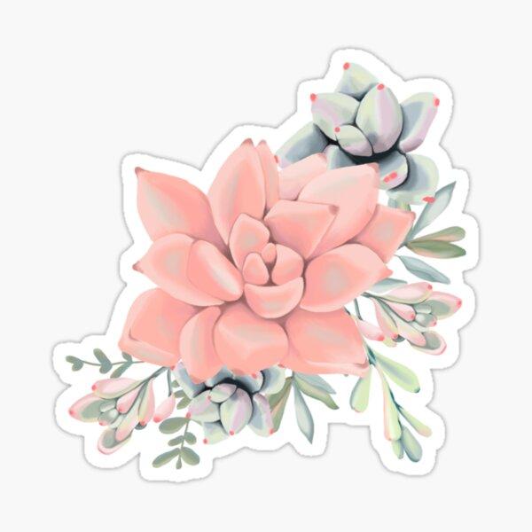 Succulent Flower Arrangement Sticker