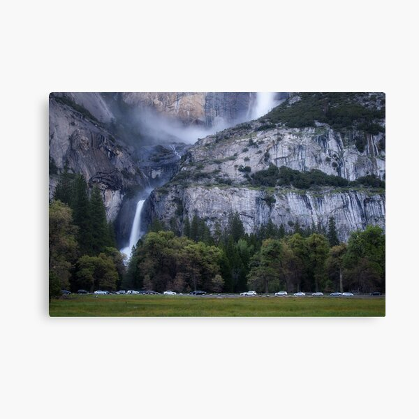 Cook's Meadow and Yosemite Falls, Twilight Canvas Print