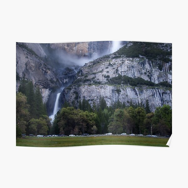 Cook's Meadow and Yosemite Falls, Twilight Poster