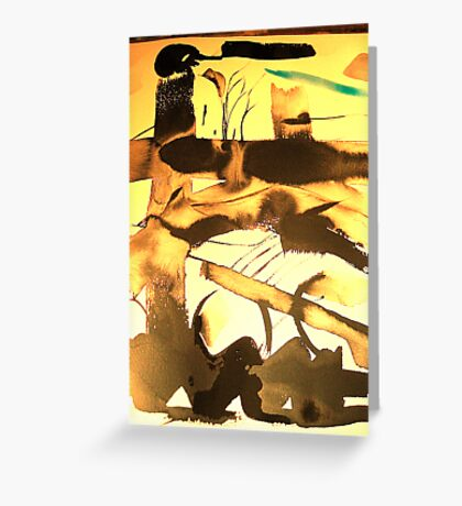 blue haze sky...under mud flats Greeting Card