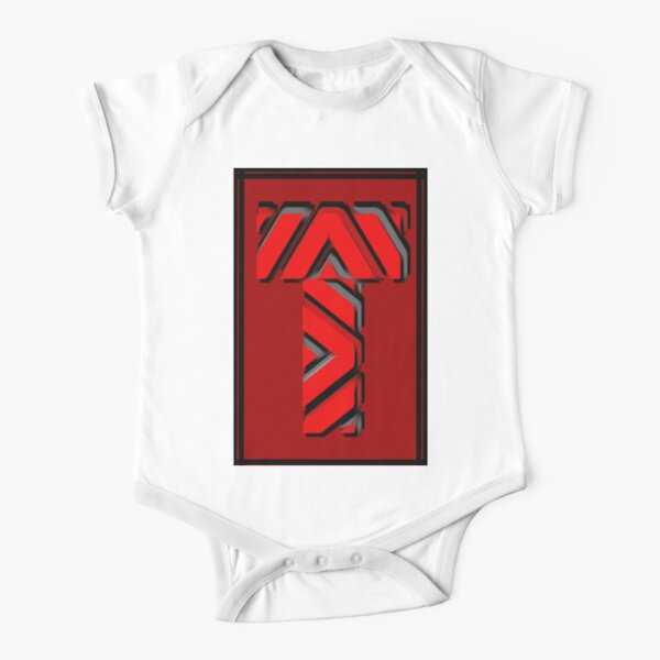 The Alphabet  The letter T Short Sleeve Baby One-Piece