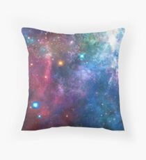 Nebula Galaxy Print Throw Pillow