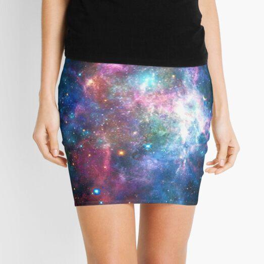 Nebula Galaxy Print Mini Skirt