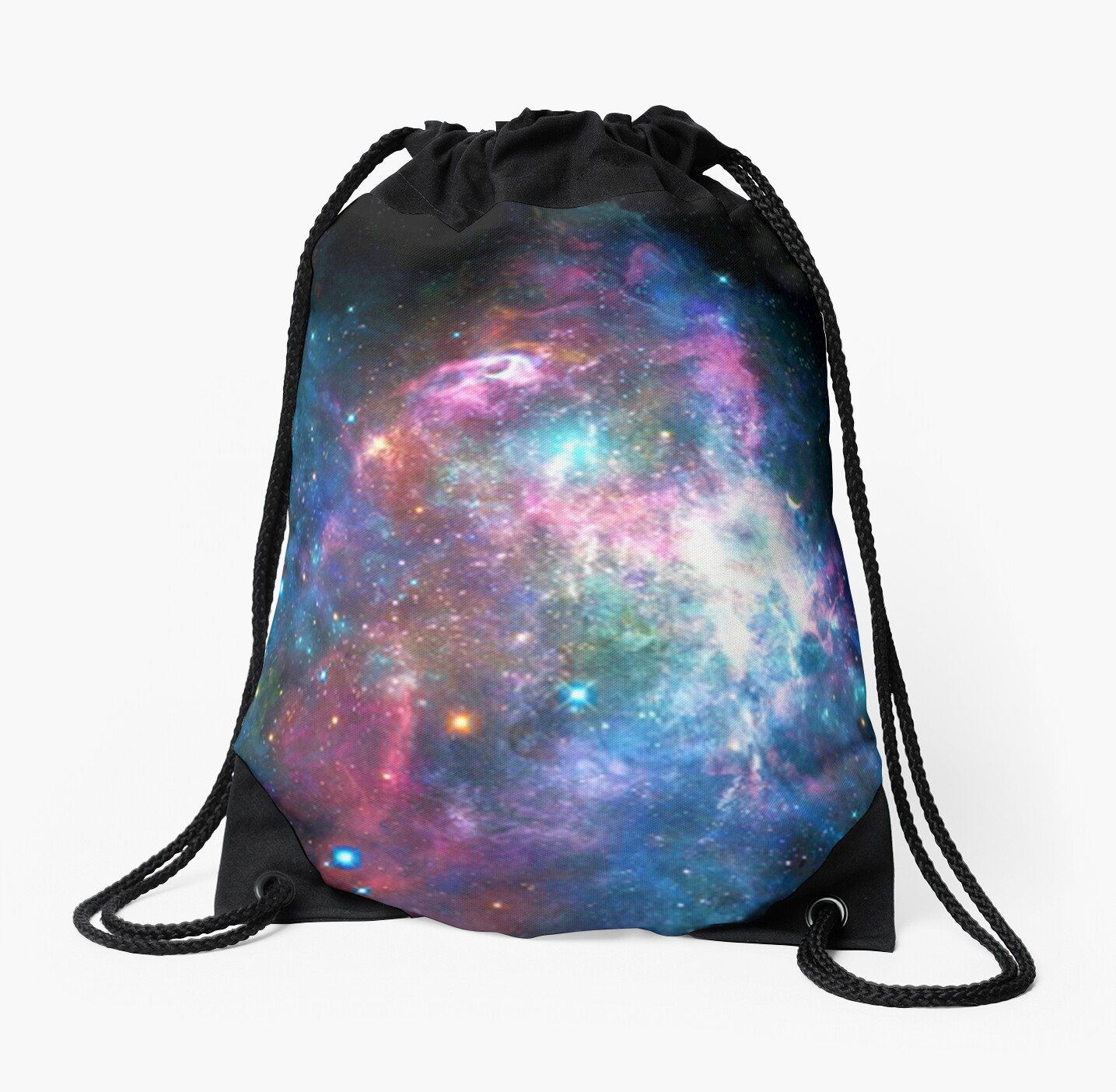 Drawstring Backpack Astronaut Space Galaxy Bags