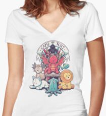 Game Of Toys Women's Fitted V-Neck T-Shirt