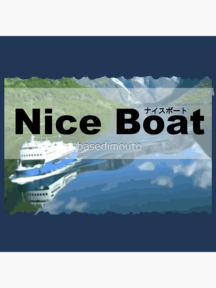 Nice Boat Art Board Print By Basedimouto Redbubble