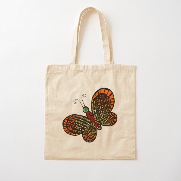 Donate Life Butterfly 2 Cotton Tote Bag