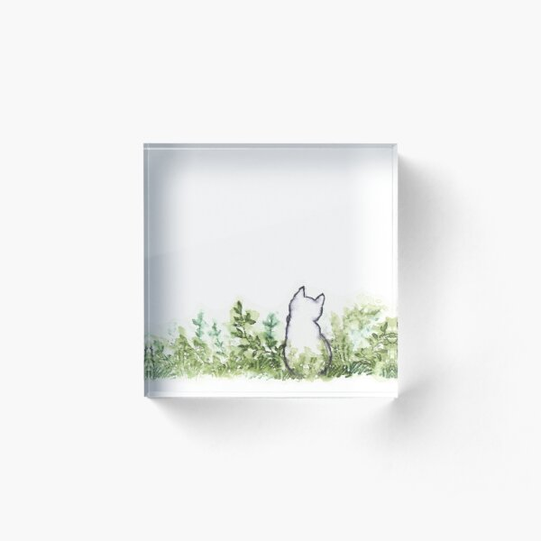 A Cat in the Grass Acrylic Block