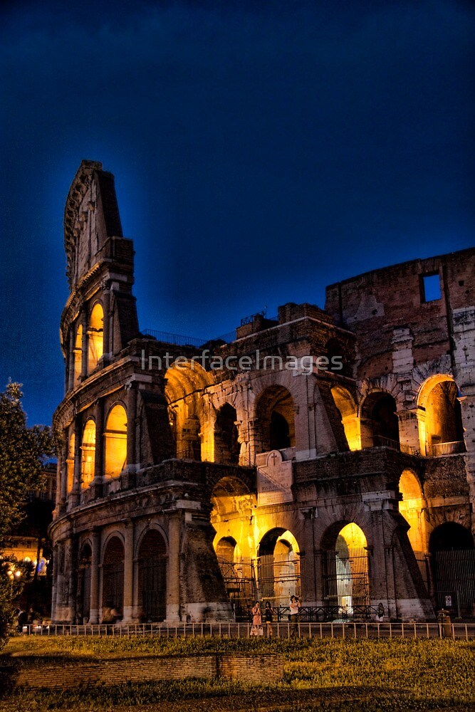 Rome Coloseum at night by InterfaceImages