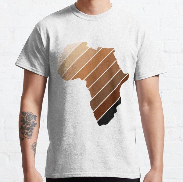 Africa Continent Melanin Brown Stripes Shades Shirt Classic T-Shirt