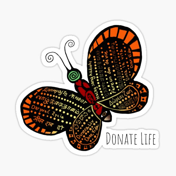 Donate Life Butterfly 1 Sticker