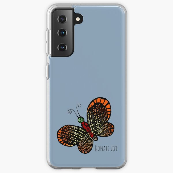 Donate Life Butterfly 1 Samsung Galaxy Soft Case