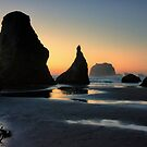 Sunset at Bandon, Oregon by Kay Martin
