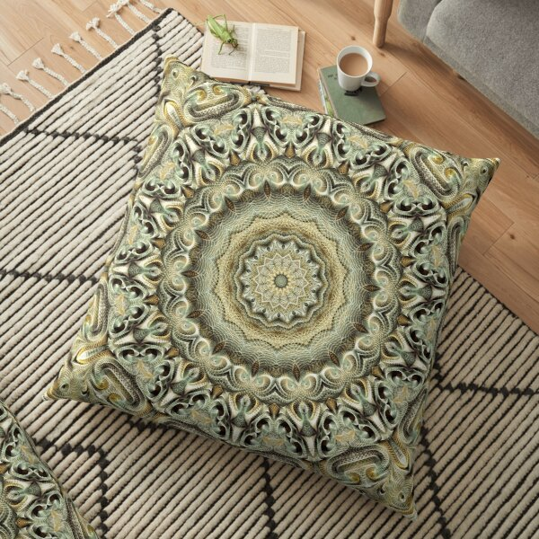 Flower Of Life Mandala (Pearl) Floor Pillow