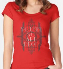Art Deco Women's Fitted Scoop T-Shirt