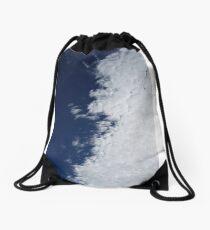 Cotton Ball Sky Drawstring Bag