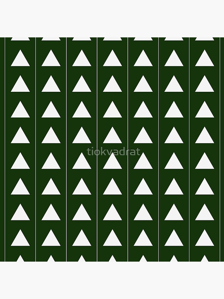 Pyramid Triangles - Olive Green by tiokvadrat