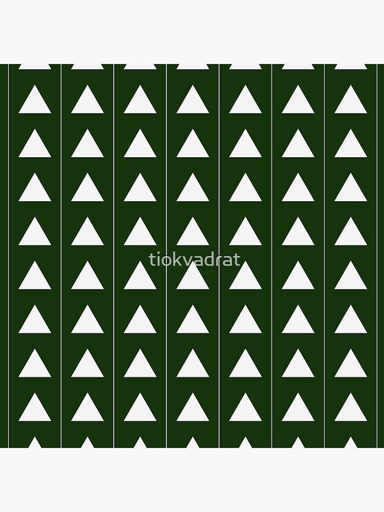 Pyramid Triangles - Olive Green by tiokvadrat