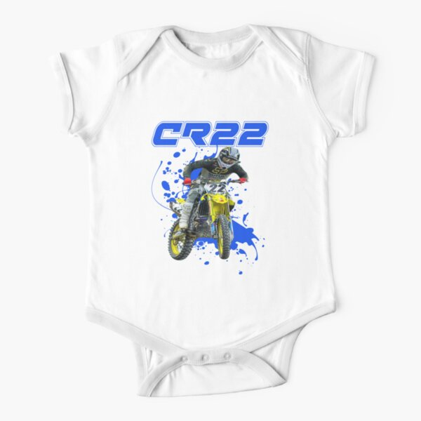 Chad Reed 22 Motocross and Supercross Champion CR22 Dirt Bike Gift Design Short Sleeve Baby One-Piece
